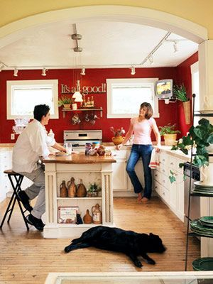 Magnificent Red Cottage Kitchen Putter Around The House Kitchen Home Interior And Landscaping Ologienasavecom