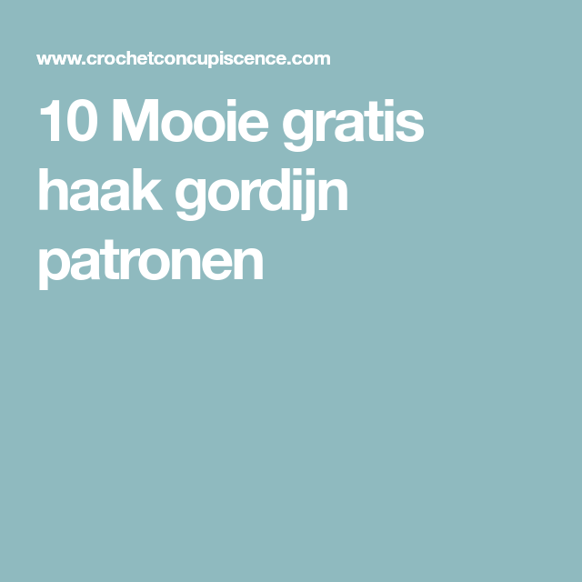 Magnifiek Gordijnen Haken Patroon Gratis At Qgk43 Agneswamu