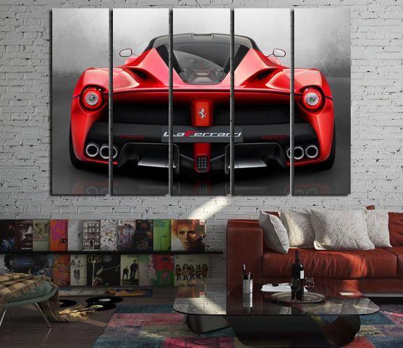 Ferrari Wall Art Living Room Decor Laferrari Photo Ferrari Etsy Wall Art Decor Living Room Cafe Wall Art Bar Wall Decor