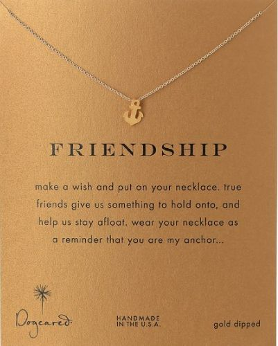 Dogeared Friendship Pendant Necklace Best Friend Gifts Anchor