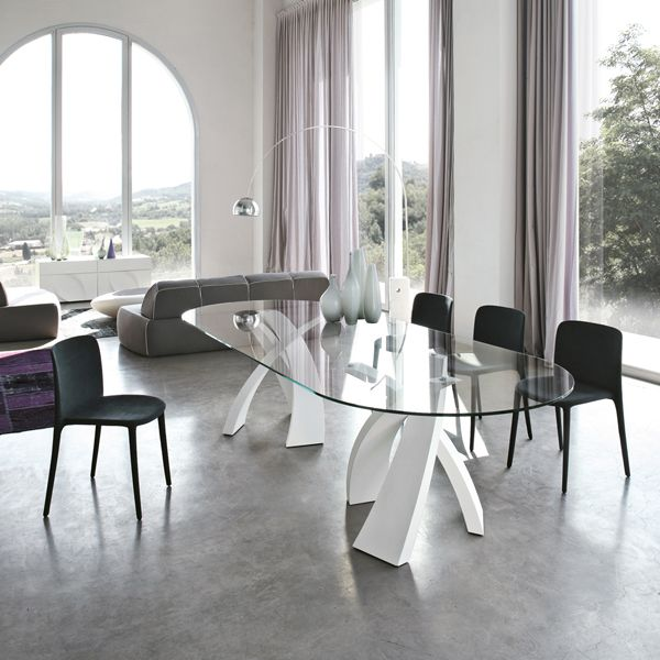 Tonin casa table fixed big eliseo version with ovoid of 260 cm big eliseo is perfect for use in a modern and stylish