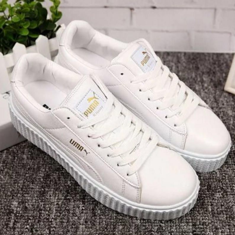 PUMA Women Casual Running Sport Shoes Sneakers White from