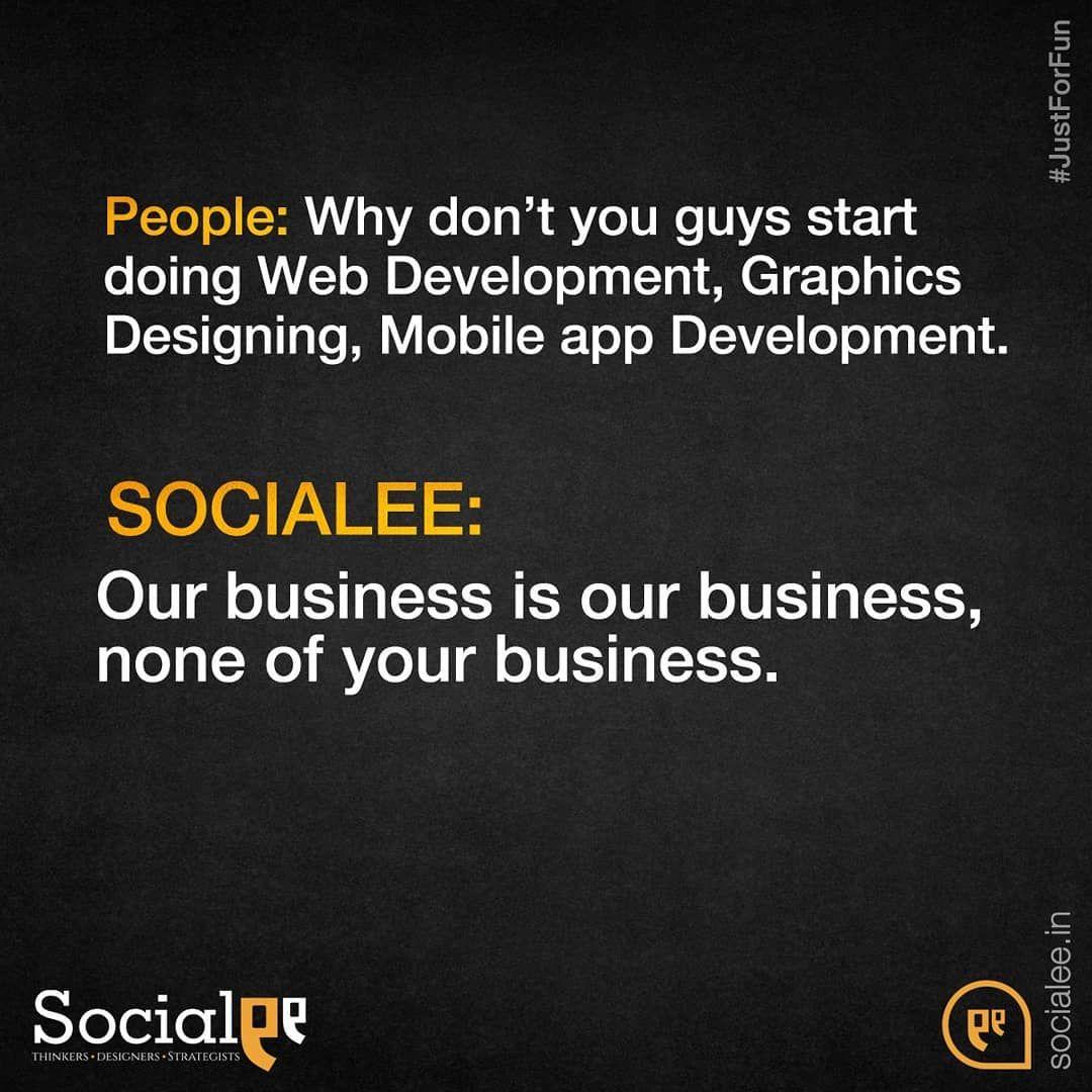 We Are A Specialized Team Of Social Media Marketers Ourbusiness Socialee Socialmedia Memes Justfor Social Media App Development Mobile App Development