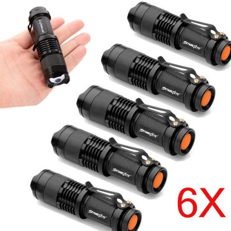 Details About 6x Mini Q5 7w 1200lm Led Flashlight Torch Lamp Adjustable Focus Zoom Light Flashlight Led Flashlight Light Flashlight