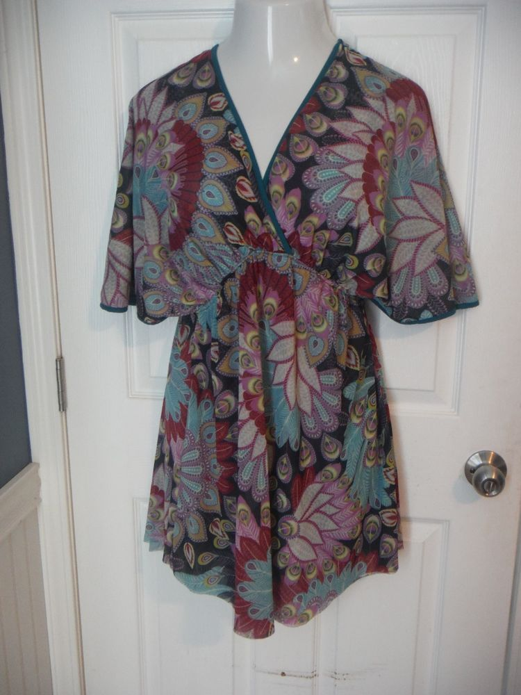 Sweet Pea Small Dress Stacy Frati Feather 100 Nylon Multi Color Cruise Sweetpea Versatile Casual