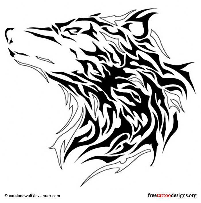 Tribal Wolf Head Tattoo Idears Wolf Tattoos Tattoos Tribal