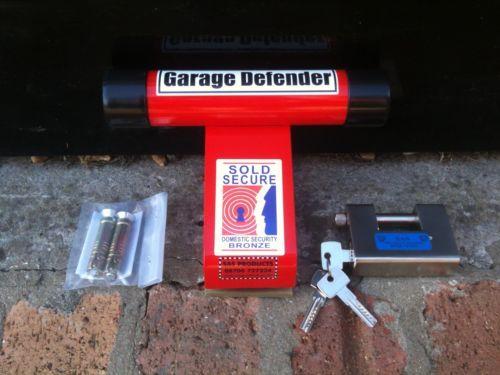 Garage Defender Door Lock Motorbike Motorcycle Security Stop Bar Up
