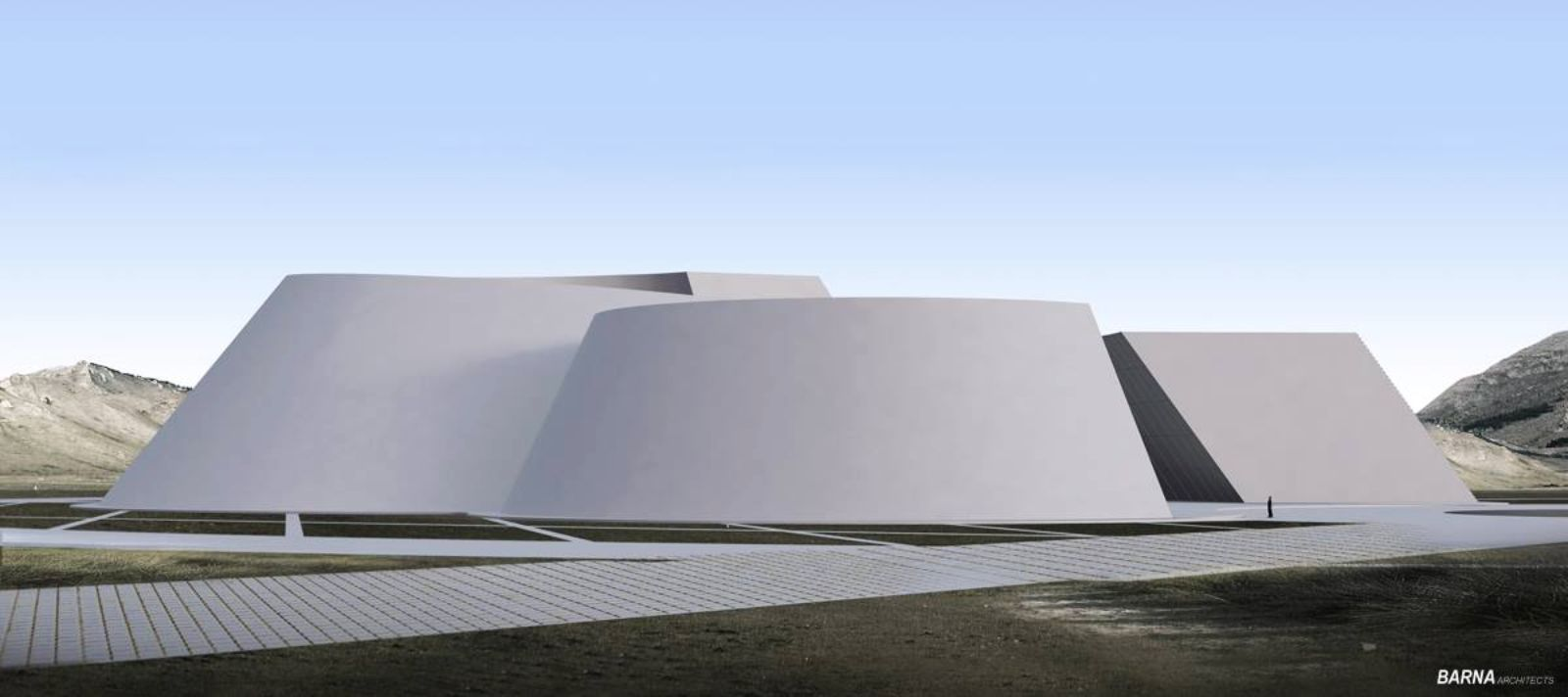 National Archaeological Museum Of Mongolia By Barna Architects Architecture Amazing Architecture Public Space Design