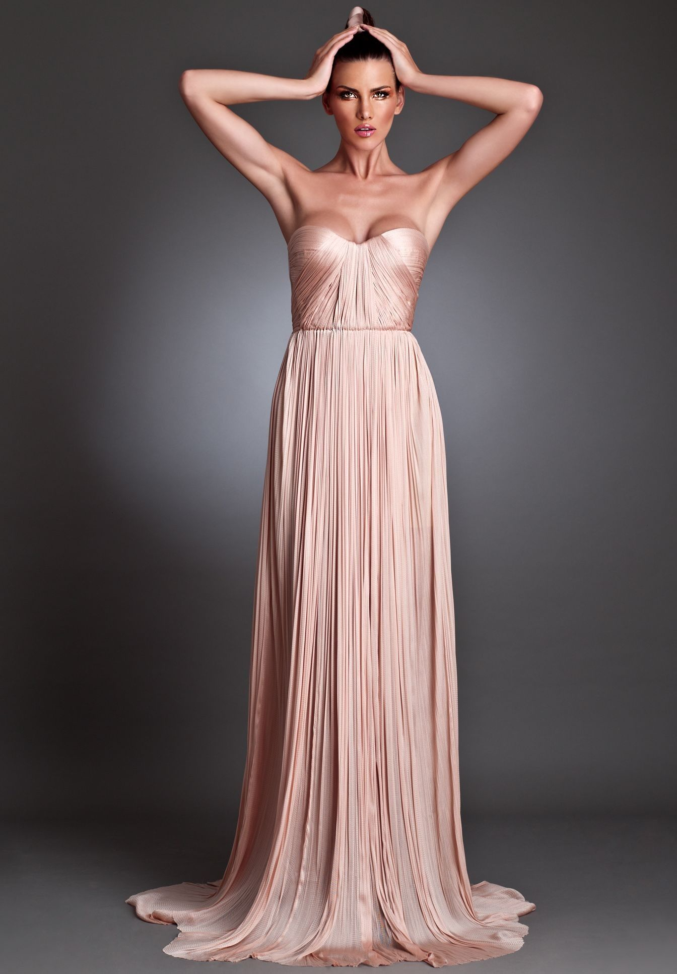 maxi dresses backless | ... Chiffon Strapless Sweetheart Column ...