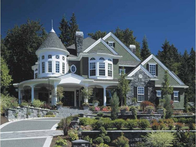 Victorian Style House Plan 4 Beds 4 5 Baths 5250 Sq Ft Plan 132 255 Victorian House Plans Modern Victorian Homes Victorian Homes