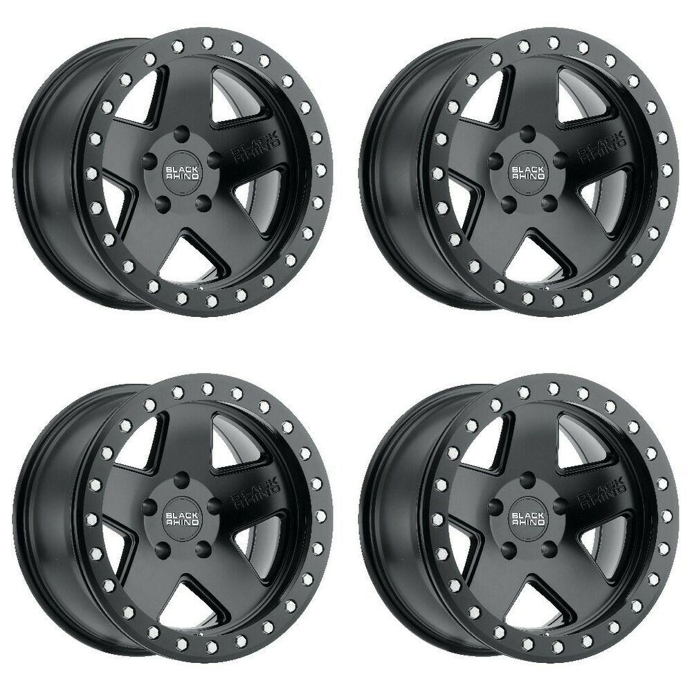 Set 4 17x8 5 Black Rhino Crawler Matte Black 6x5 5 Truck Wheels 0mm Rims W Lugs Blackrhino In 2021 Black Wheels Truck Rims Wheel