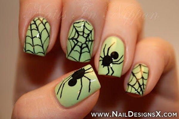 spider+nail+art+-+Nail+Designs+&+Nail+Art - Spider+nail+art+-+Nail+Designs+&+Nail+Art Halloween Pinterest
