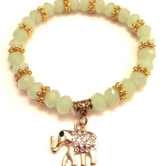 Crystal Elephant Charm Bracelet Crystal Elephant Charm Bracelet. The elephant is a symbol for good luck and warding off evil energy. Brand New Jewelry Bracelets