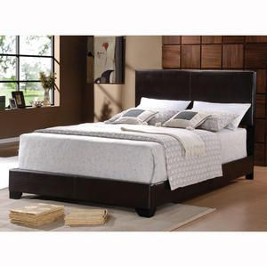 Stylish Faux Leather Bed Bed Frame With Mattress Cheap King
