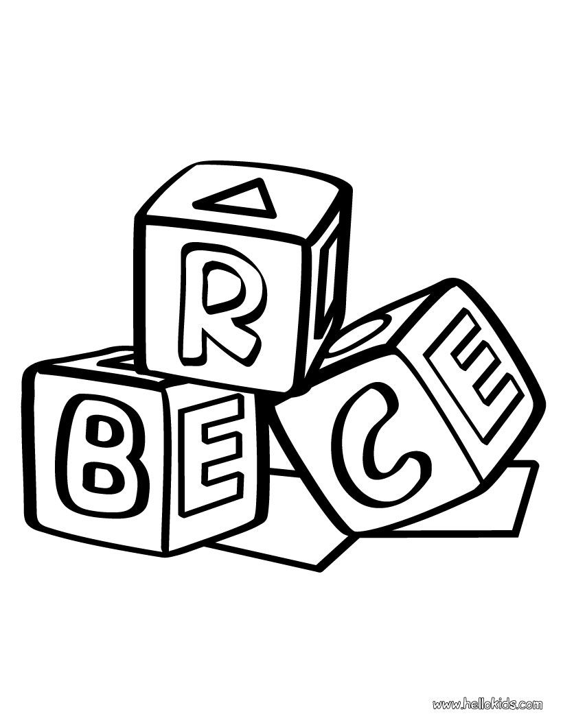 Block Coloring Pages Coloring Pages Lego Coloring Pages Alphabet Blocks