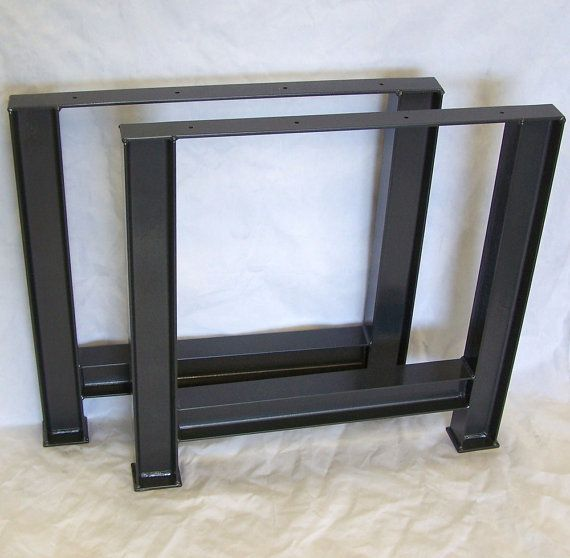 Industrial Table Legs Massive Structural Steel by ModernIronworks, $320.00