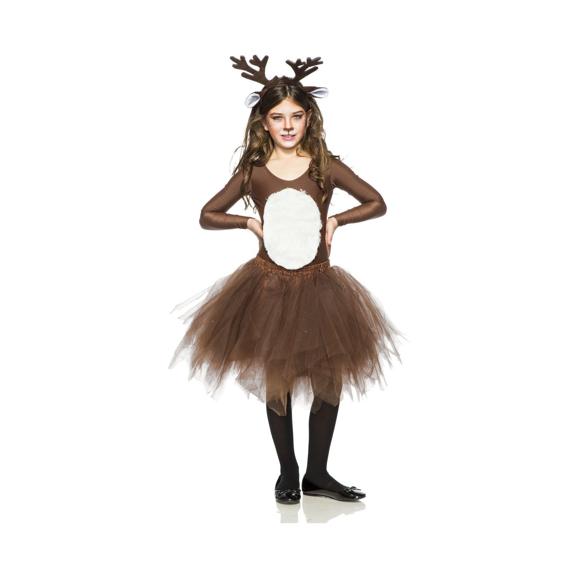 Kid's Deer Halloween Costume XL, Brown Deer halloween