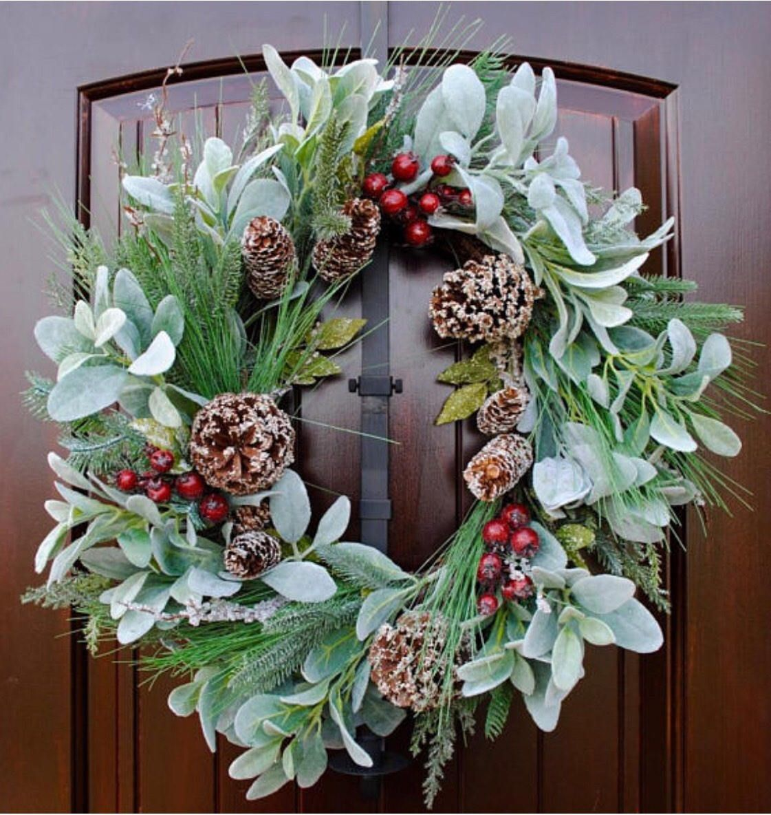 Winter WreathFarmhouse WreathRustic Front Door Wreath