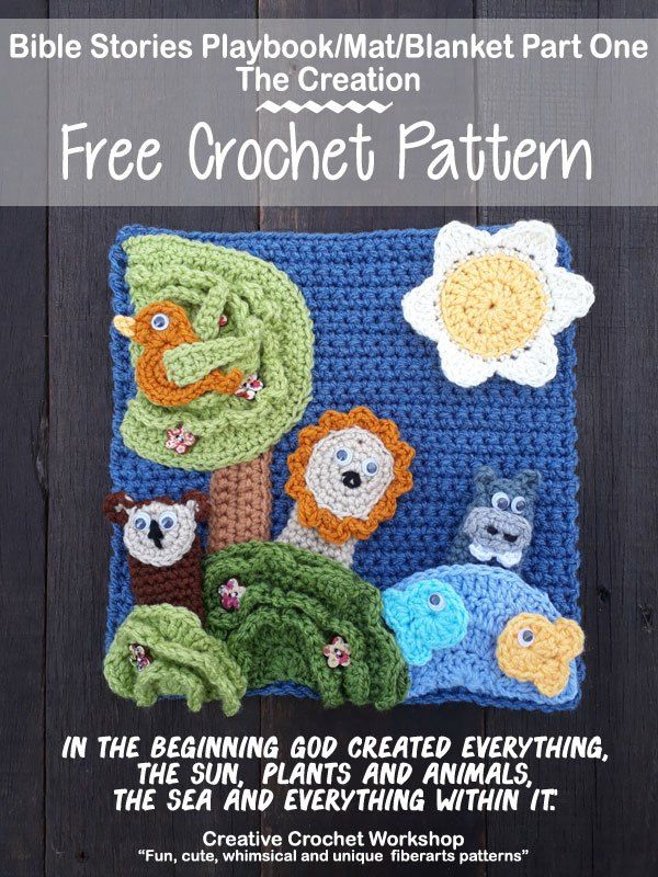 My Bible Stories Playbook Part One | CROCHET-A-LONG With Me | Pinterest