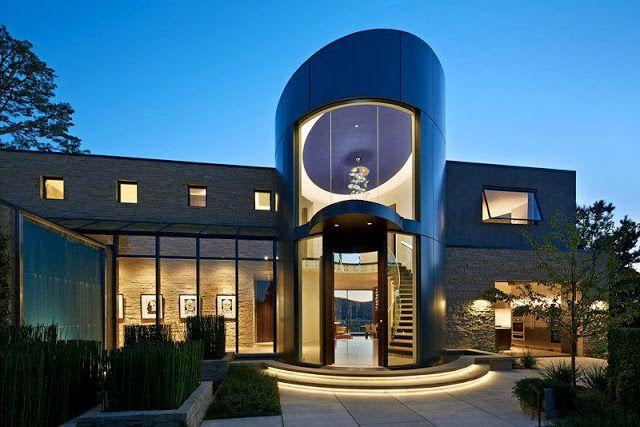 Arquitectura de lujo casa moderna habitaciones - Arquitectura moderna casas ...