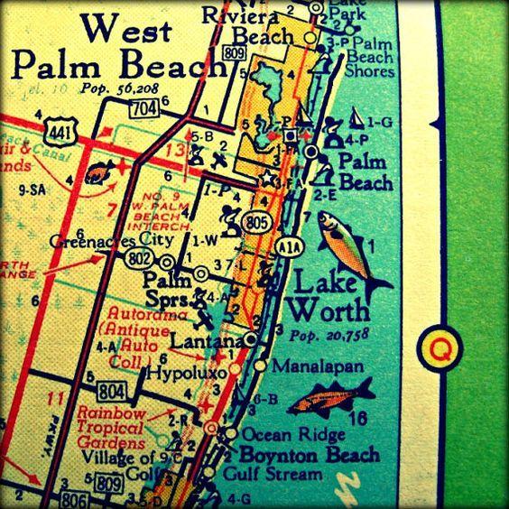 Boynton Beach Florida Map.Pin By Cindy Becker On West Palm Beach Pinterest West Palm Beach