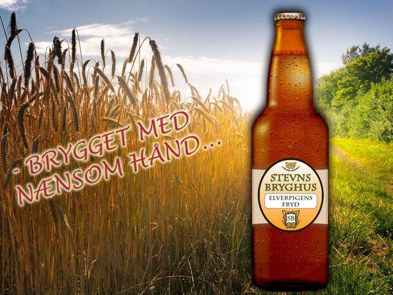 Elverpigens fryd 4,5 vol. % alk. / Klassisk og let drikkelig øl. Elverpigens fryd er så frisk at elverpigerne vil frydes. Brygget på maltet hvede, rug og byg, umaltet hvede og en let humling med to tyske humletyper.