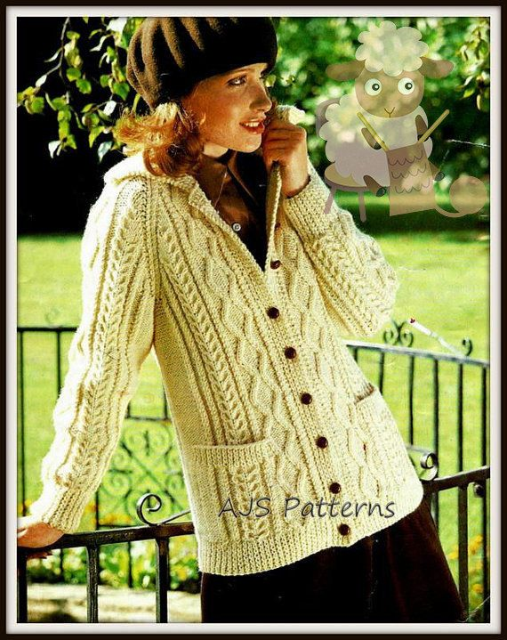 """To Fit 32-46/"""" Bust Stunning Knitting Pattern for Lady/'s Cardigan"""