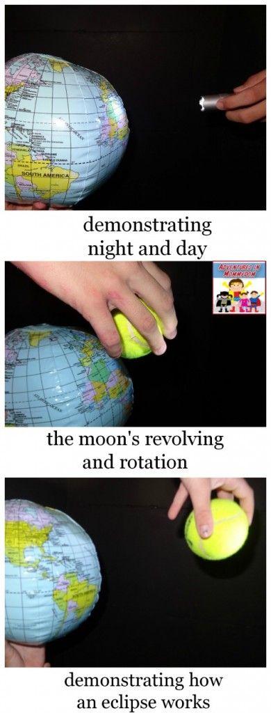 sun unit demonstrating how an eclipse happens