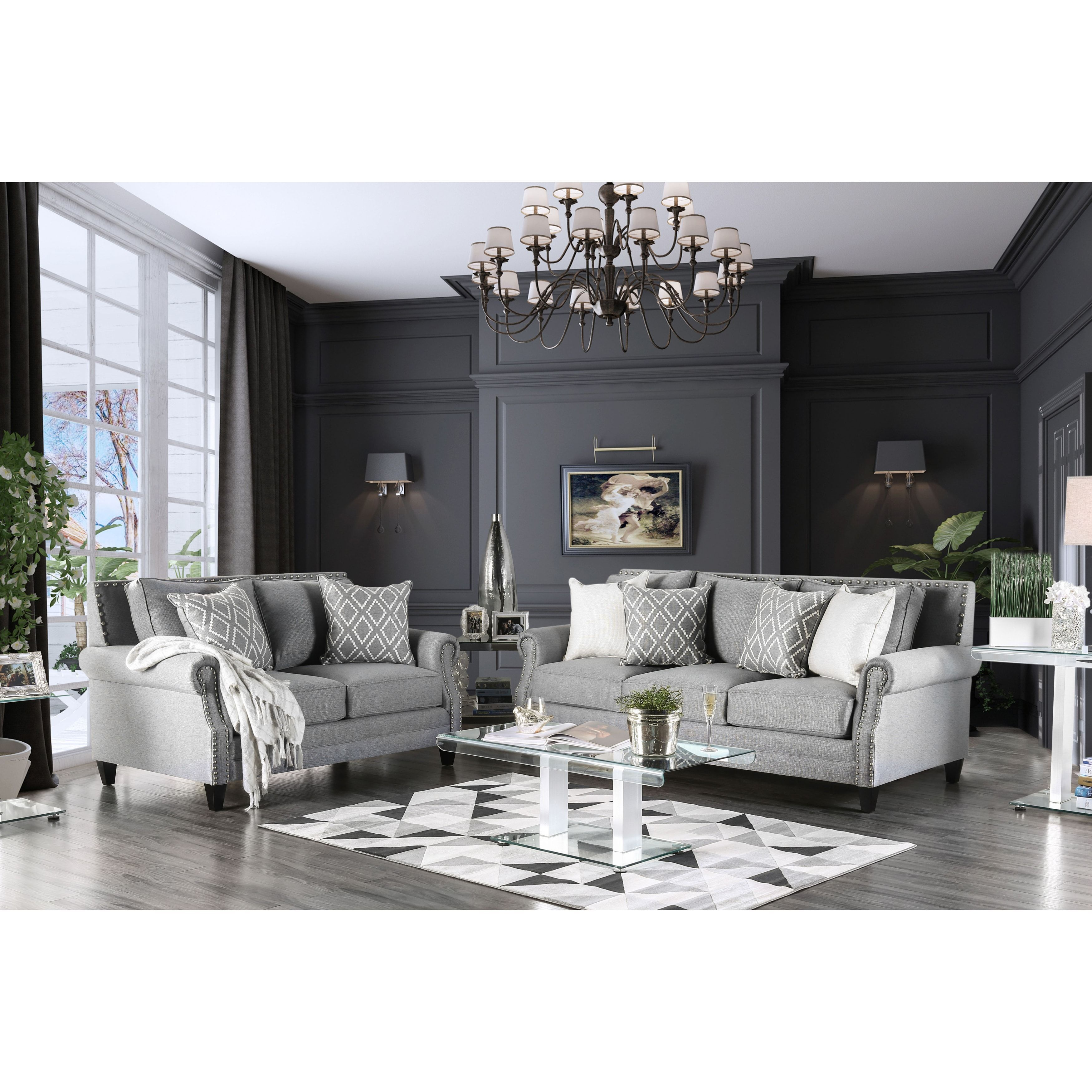 Best Furniture Of America Ferisen Contemporary 2 Piece Linen 400 x 300