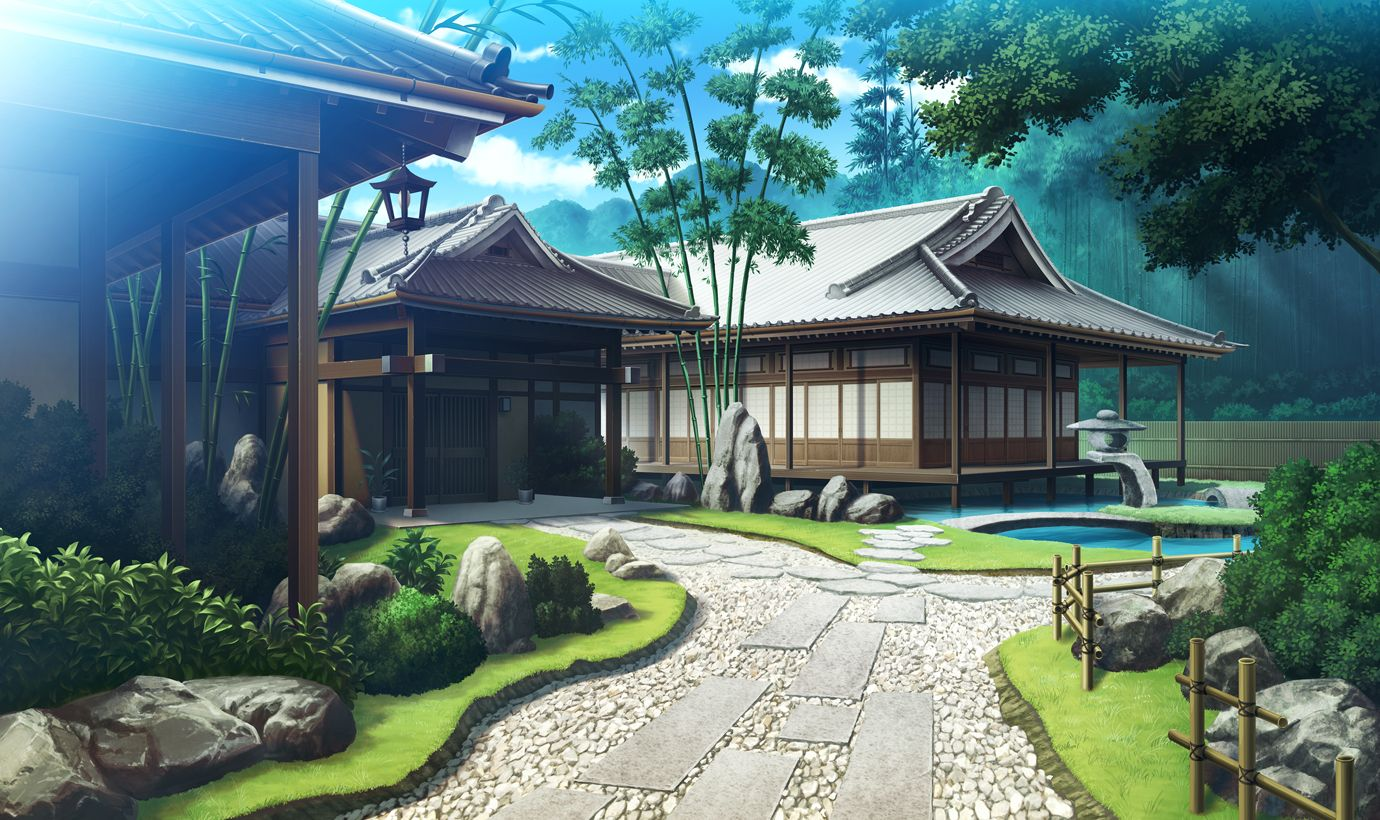Maison traditionnelle anime landscape pinterest for Maison traditionnelle