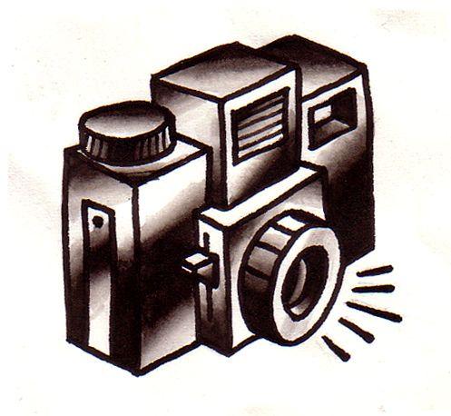 Holga Camera Tattoo Flash by Chris Hold, via Flickr