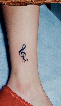 Music Tattoo On The Leg Inked Pinterest Tatuajes Tatuajes