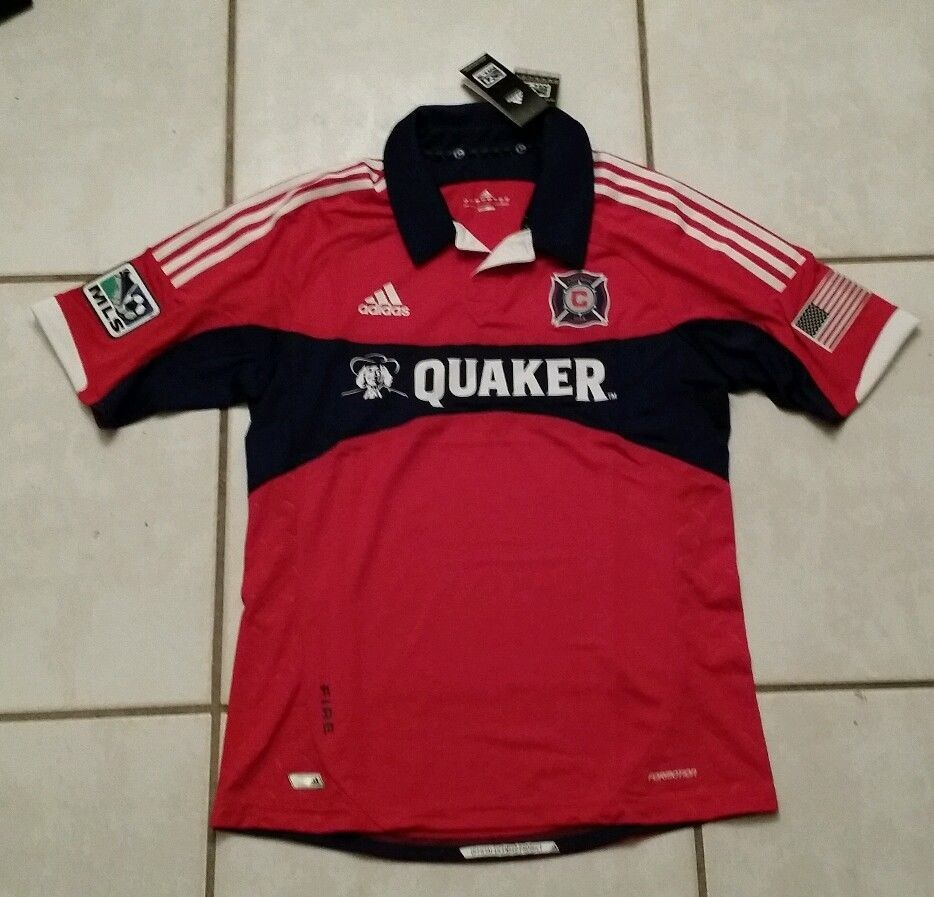 NWT ADIDAS Formotion Chicago Fire MLS  Soccer Jersey Men's Large  #adidas #ChicagoFire