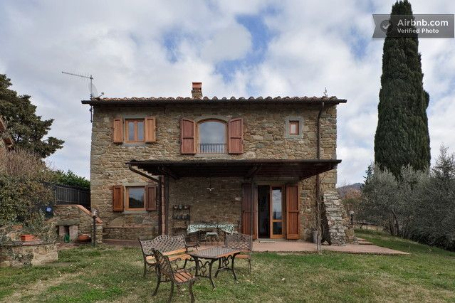 Old Tuscany hause located on the street that leed Greve in ...