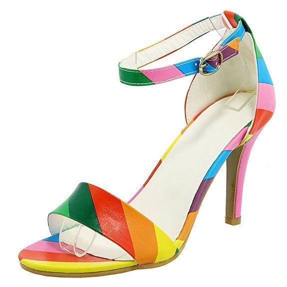 Damen High Heels Sandalen Mit Riemchen Und Stiletto Ankle Strap