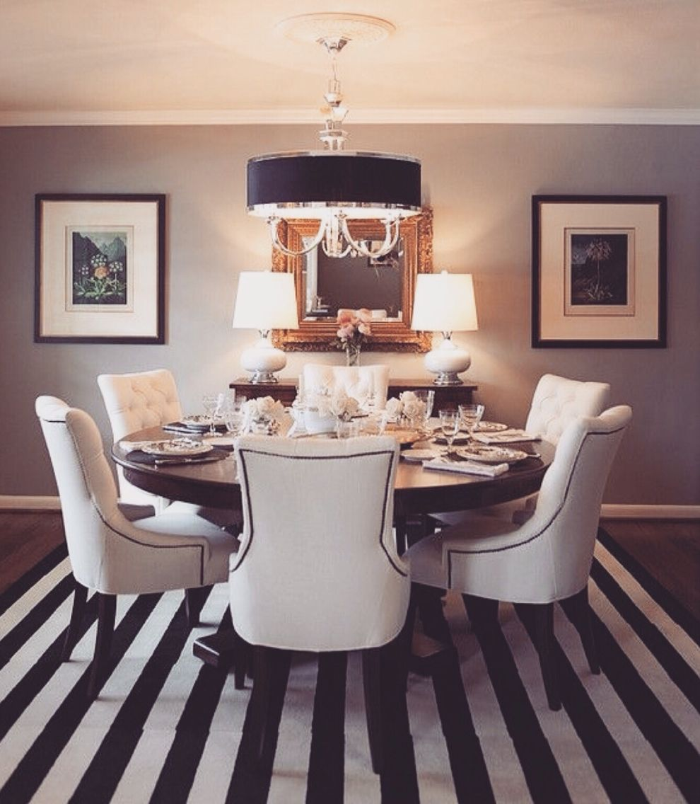 kitchen dining tables. Love Stripes And Round Dining Tables! Kitchen Tables