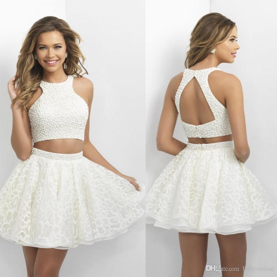 d866e0bd3 Encuentra el mejor 2016 cuatro nudos fiesta vestidos little white cortos  vestidos de baile con las perlas camisa de encaje sin espalda mini vestidos  de ...