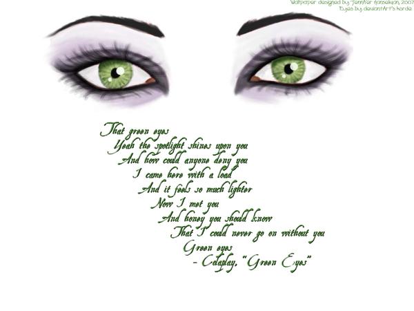 Green Eyes: A Wallpaper by DropsOfSilence.deviantart.com on ...