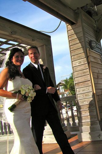 A Beautiful Destination Bride :) --Destination Wedding at the Reach Resort in Key West with The Best Wedding DJ Ever! http://mbeventdjs.com