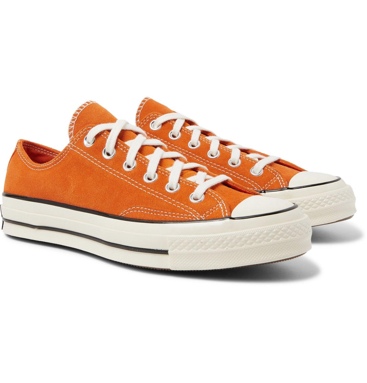 Orange Chuck 70 Suede Sneakers