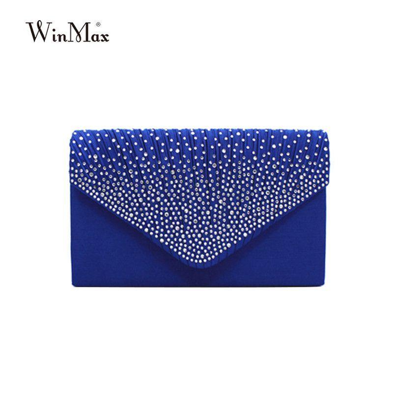 star galaxy diamond envelope bag hand bag  (FREE SHIPPING)