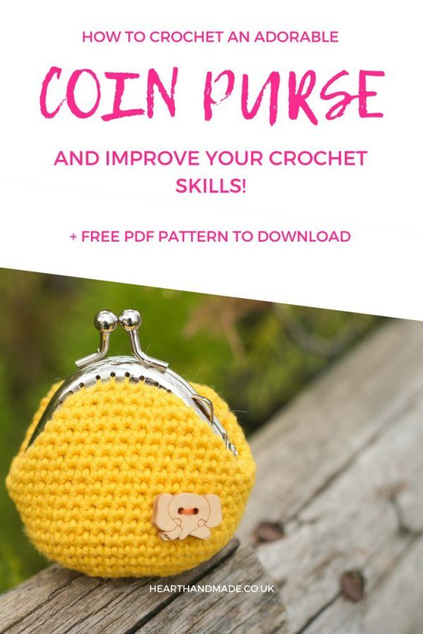 How To Crochet A Coin Purse - A Free PDF Pattern | DIY Craft Ideas ...