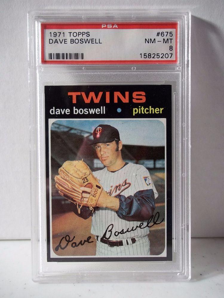 1971 topps dave boswell psa graded nmmt 8 baseball card