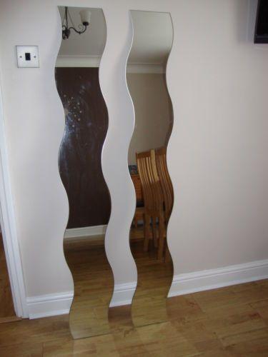 2 Ikea Wave Mirrors And Wall Fixings Wall Ikea Flat Ideas