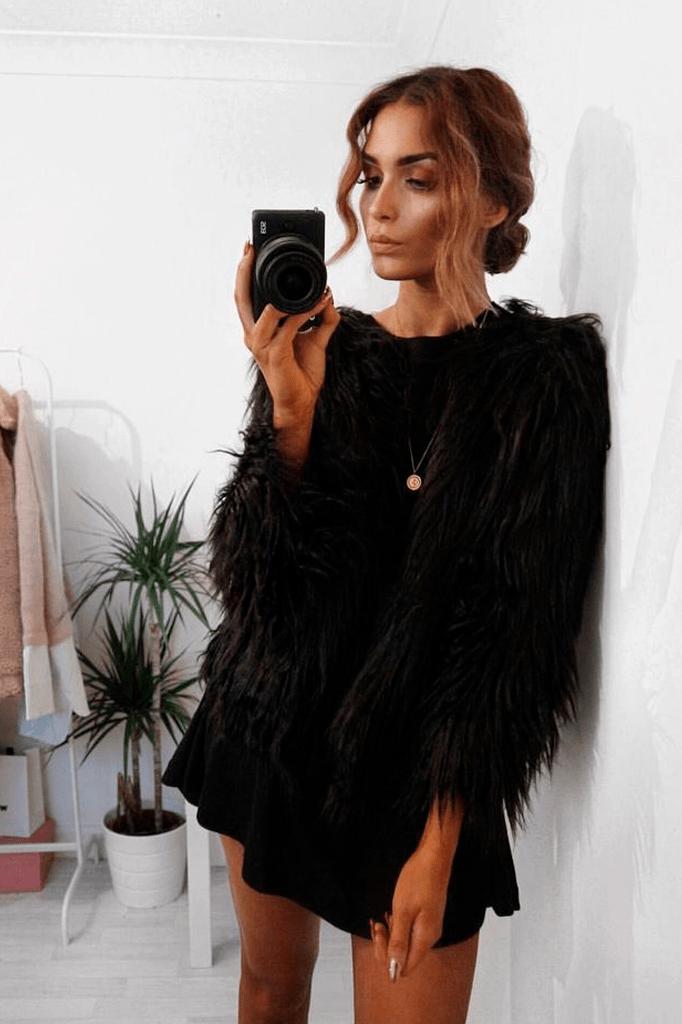 7c1c00011c30b Fluffy Faux Fur Coat in 2019