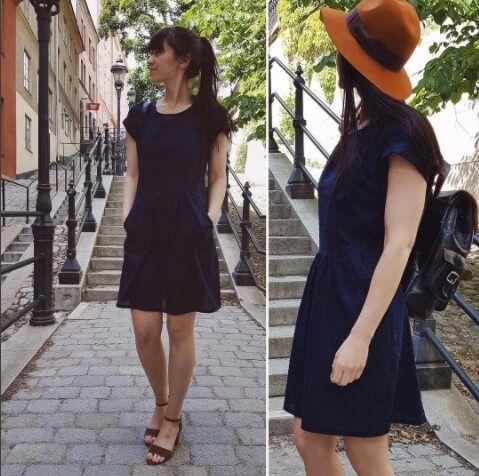 Sommerkleid Damen - Orla-Dress | Schnittmuster kleid ...
