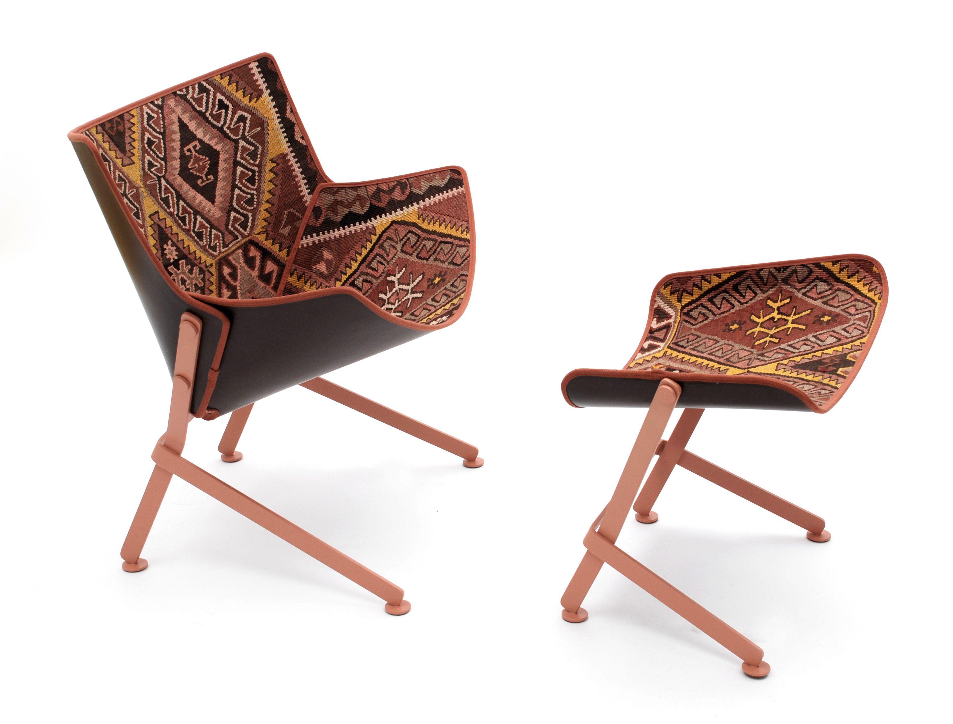 furniture chair footstool kilim furs interior design italian