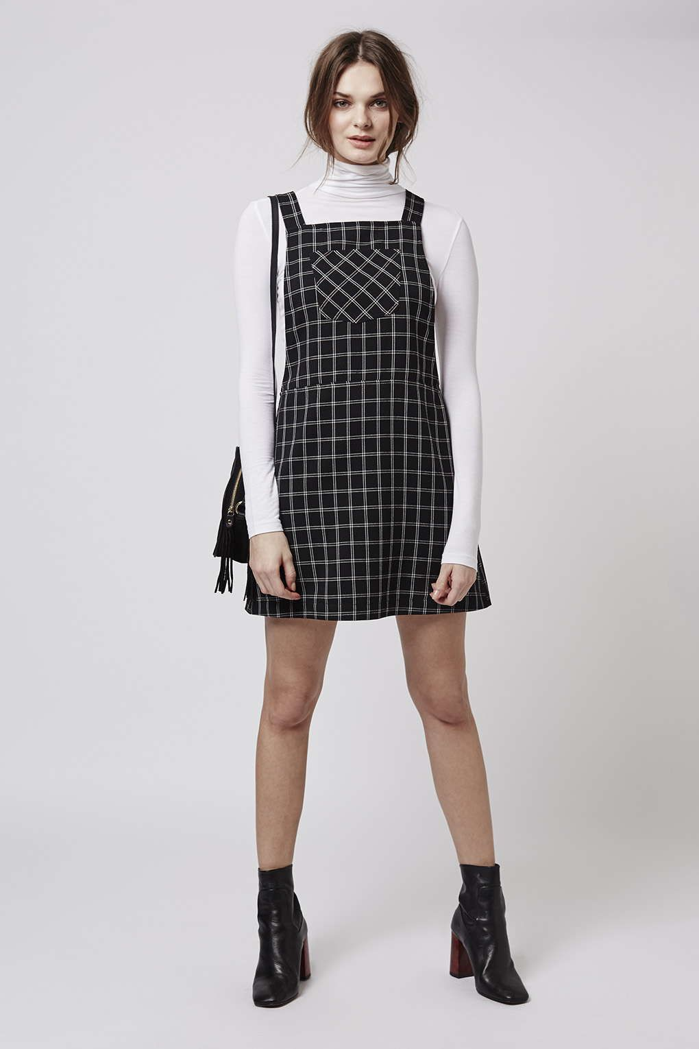 bf1157dd8790 Check Pinafore Dress | Outfits | Check pinafore dress, Pinafore ...