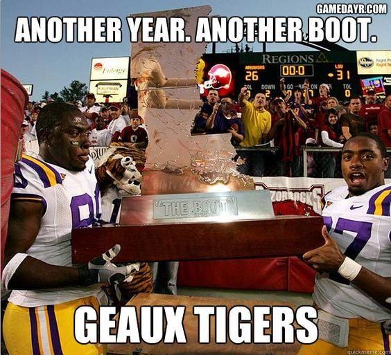 Geaux Tigers Beat Arky Lsu Geaux Tigers Football Jokes