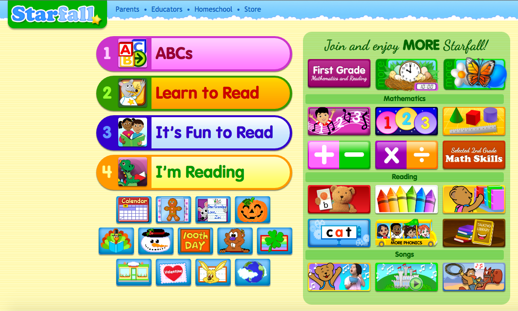 Language Arts - Interactive Learning Sites for Education